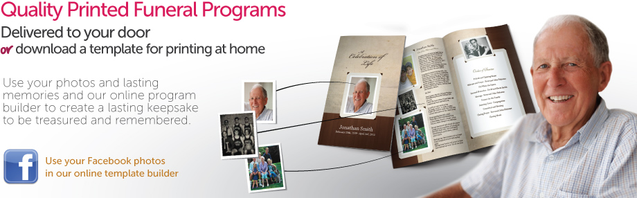 funeral programs custom made online