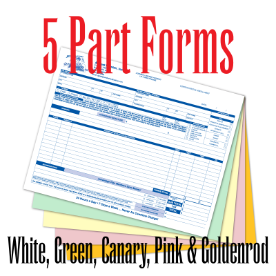 5 Part Carbonless Forms