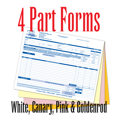 4 Part Carbonless Forms