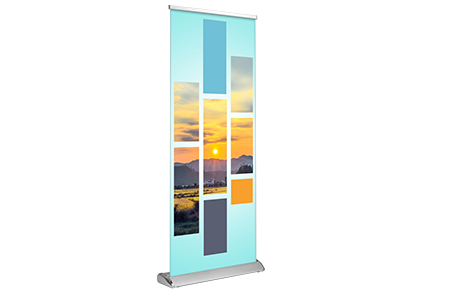 Full Color Deluxe Banner Stand printed in Puyallup, Washington