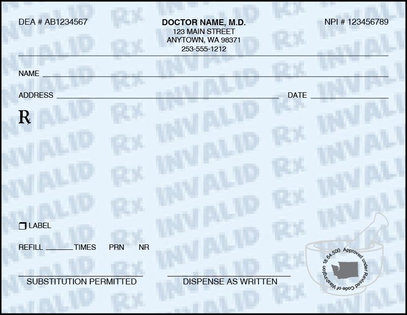 prescription format